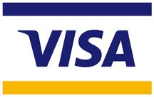Wir nehmen auch die Visa Karte für Ihre Taxi Rechnung
